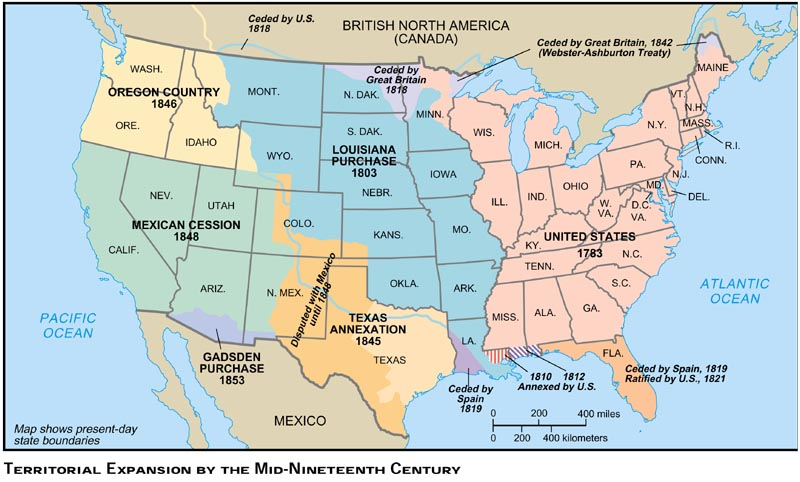 Blank Maps For Quizzes - 1819 map of us