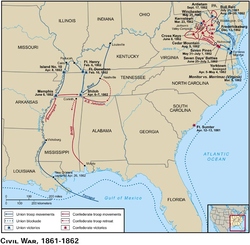 Blank Maps For Quizzes - Map of us in may 1861
