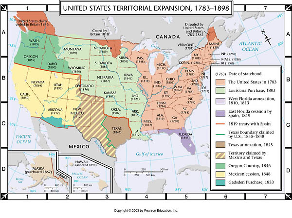 Atlas Map: US Territorial Expansion, 1783-1898 on timeline of us expansion, map of united states westward expansion after, mapping us expansion, map japan expansion, us outline map expansion, map showing the expansion of the united states,