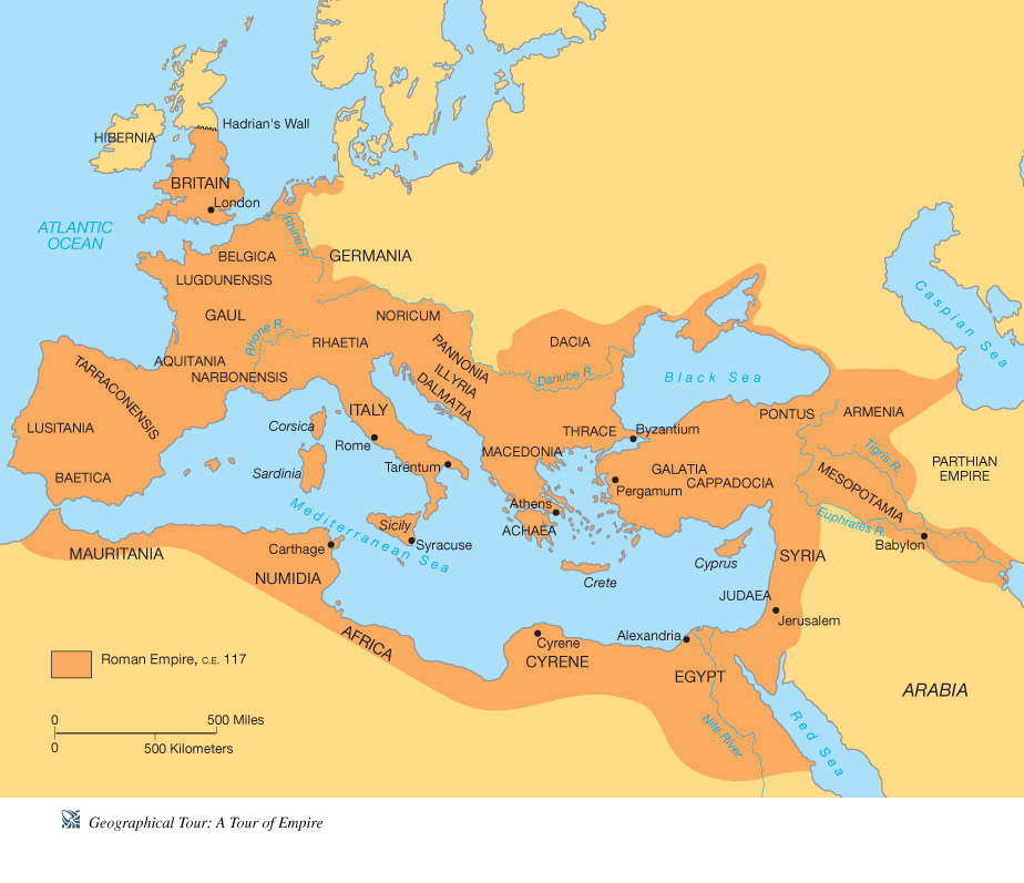 Geography, Maps - Ancient Rome for Kids
