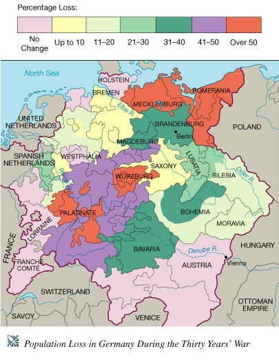 Pgapworld Thirty Years War - Map germany thirty years war