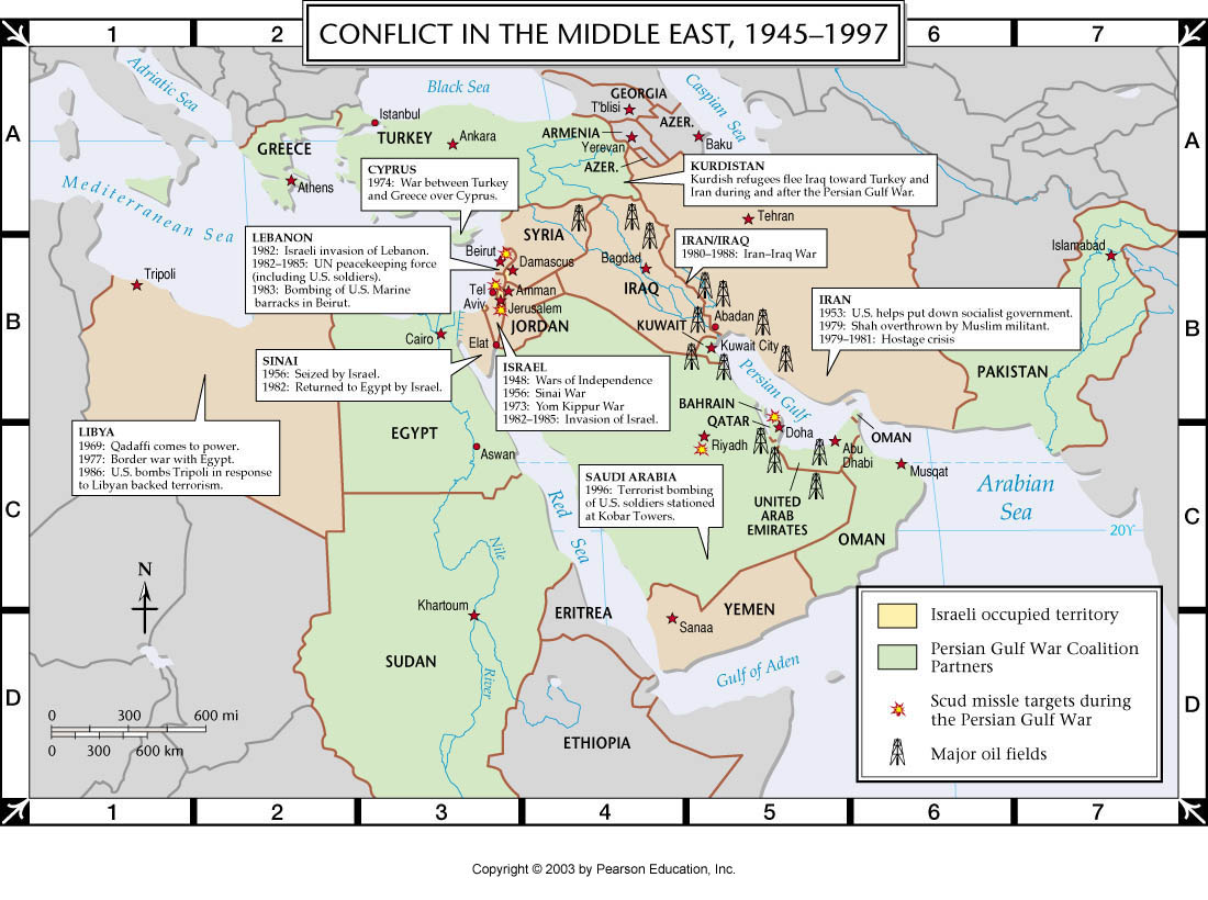 an analysis of the history of the conflict in the middle east According to the poll on the israel-palestine conflict conducted in april (2002), most europeans (france 63%, germany 63%, italy 51%) had disapproved the then us policies with towards the middle east, while only 26% of americans expressed disapproval in due respect.