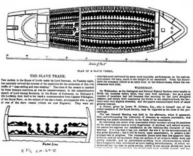 of Slave Ship Filled for Middle Passage