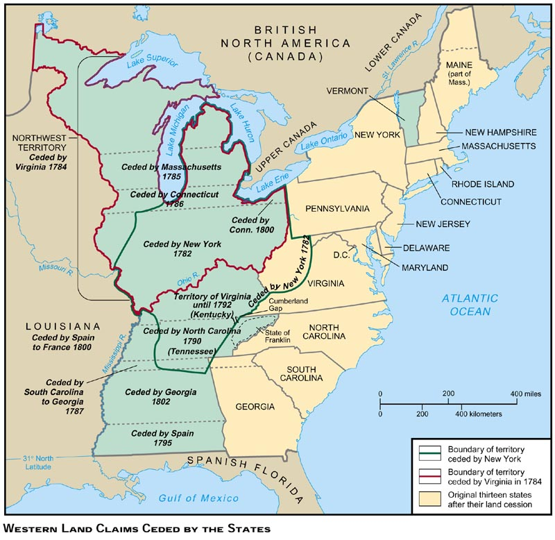 State Cessions - Map of territories acquired by the us